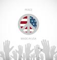 Heart shaped american flag EPS10 vector image