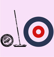 Curling game element vector image vector image
