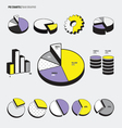 Pie Charts Infographic vector image vector image