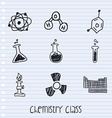 chemistry class vector image