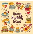 Housewarming sweet home greeting card vector image