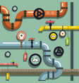 pipeline flat design background vector image