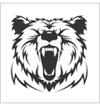 Head grizzly Brown Bear in tribal style vector image vector image
