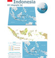 Indonesia maps with markers vector image vector image