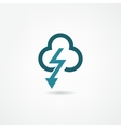 storm icon vector image vector image