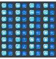 Game menu icons ice buttons set vector image