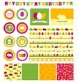 Set of design elements for Easter vector image