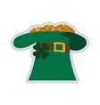 leprechaun hat with gold coins icon vector image