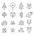 Abstract Forest Drawing Collection vector image