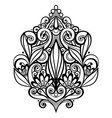 black decorative element in doodle style with lot vector image