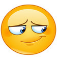 embarrassed smile emoticon vector image