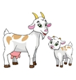 goat and kid on white background vector image