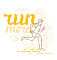 running and sport motivation poster vector image