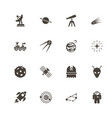 space - flat icons vector image