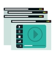 video or film icon image vector image