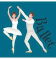 Young beautiful dancer girl and boy couple man vector image