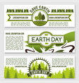 banners for earth day nature conservation vector image vector image