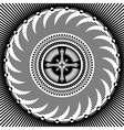Cross in decorative pattern vector image vector image