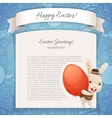 Happy Easter Poster With Banny vector image vector image