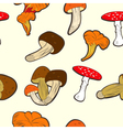 seamless wallpaper with mushrooms vector image