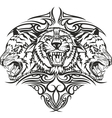 tiger with patterns vector image