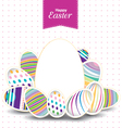 Easter day for egg on design Colorful pattern for vector image