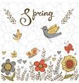 Elegant spring post card vector image vector image