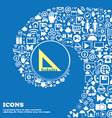 ruler icon Nice set of beautiful icons twisted vector image