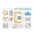 Application development Mobile apps vector image