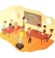 Co-working And Teamwork Class vector image