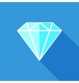 Diamond flat icon vector image