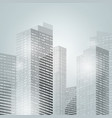 downtown skyscrapers city background vector image