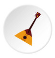 guitar triangle icon circle vector image