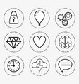 line set icon mental health vector image