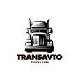Logo truck on white background vector image