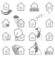 Property insurance icon set vector image