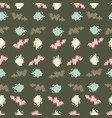 seamless background pattern with circles vector image