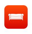 sofa icon digital red vector image