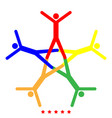 teamwork icon different color vector image