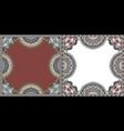 two floral frame design ornate flower pattern vector image