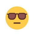 yellow cartoon face sad upset emoji people emotion vector image