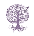 Tree 27 with roots zentangle for your design vector image vector image