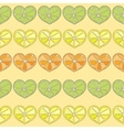 citrus hearts seamless pattern vector image vector image
