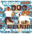 Dog walking tile vector image
