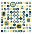 flat design icons for business vector image vector image