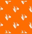 bell flower pattern seamless vector image