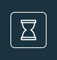 sandglass outline symbol premium quality isolated vector image