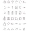 Men clothes set vector image