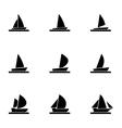 sailboat icon set vector image