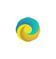 Abstract mockup travel logo sand sun wave paradise vector image